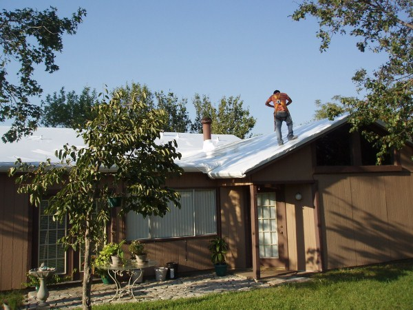 Roof Shrink Wrapping (2)