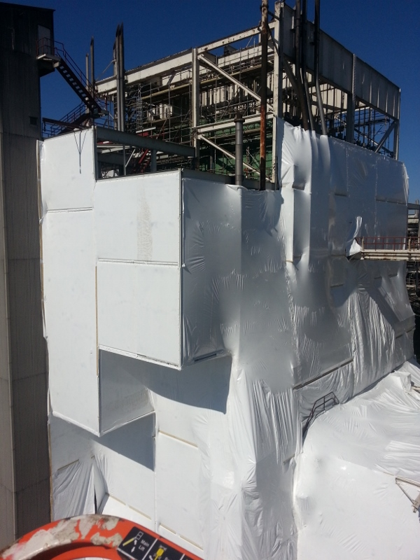 Shrink Wrapping Service for Construction Projects