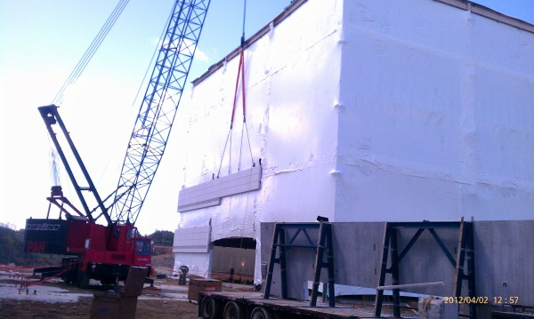 Curtainwall Installation Over Shrink Wrap