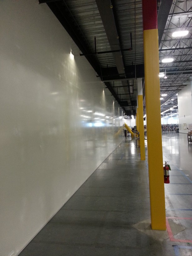 Temporary partition walls for construction interior protection walls for Construction interior dust control