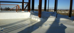 Flat Roof Shrink Wrap Containment